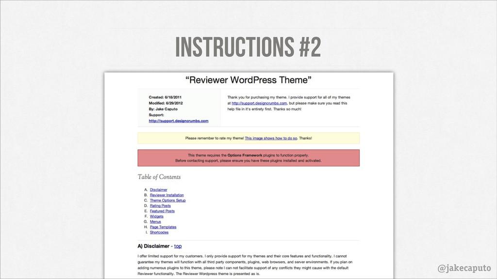 Instructions #2 @jakecaputo