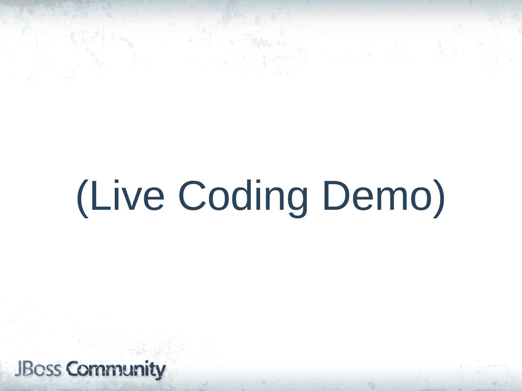 (Live Coding Demo)