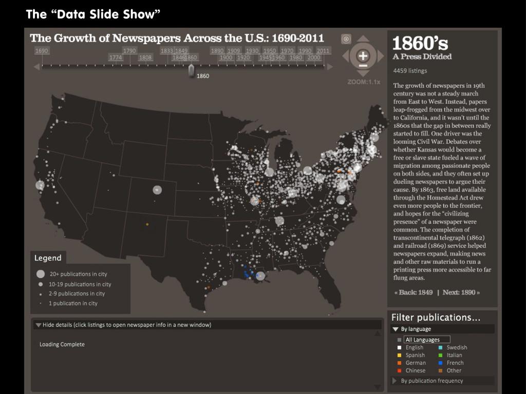 """The """"Data Slide Show"""""""