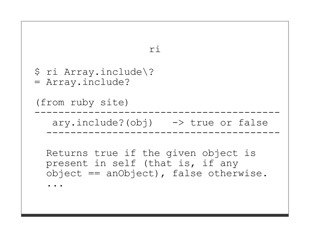 ri $ ri Array.include\? = Array.include? (from ...