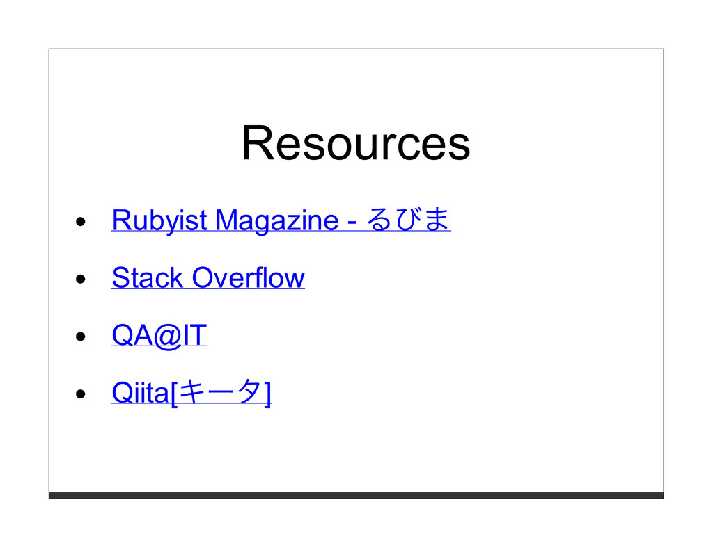 Resources Rubyist Magazine - るびま Stack Overflow...