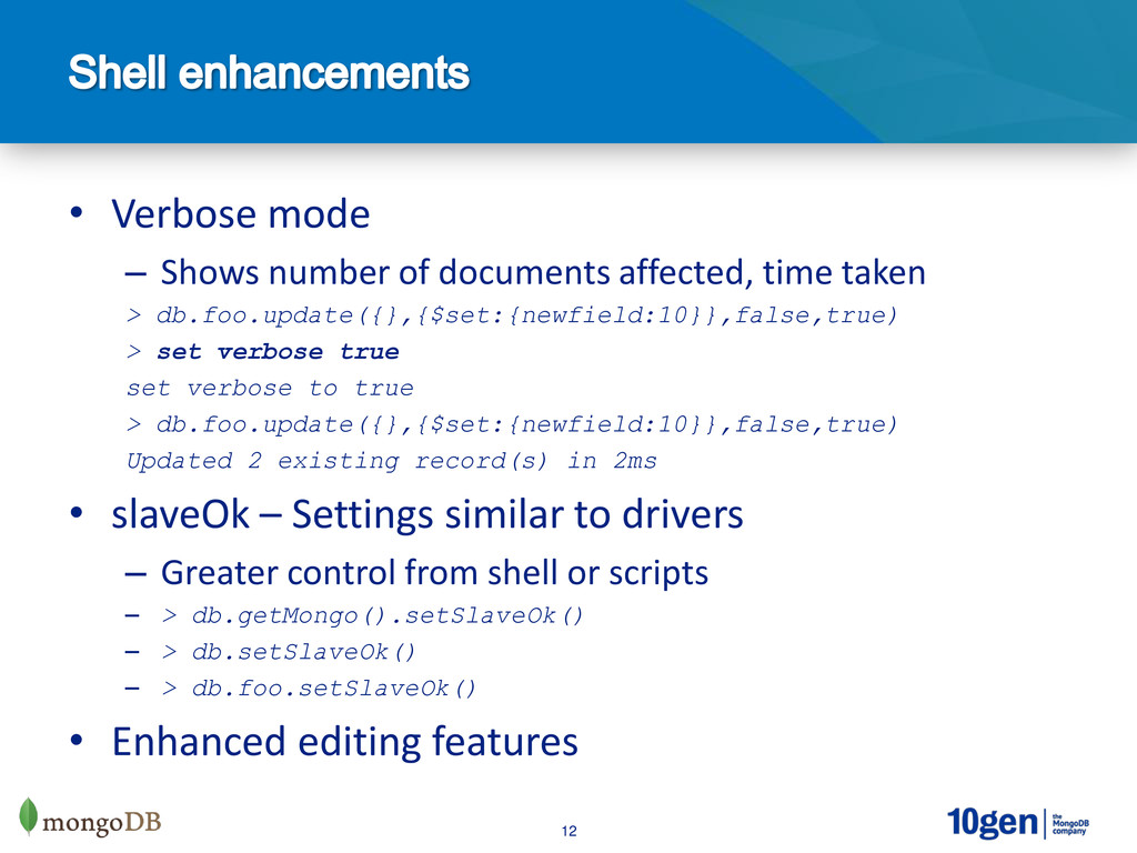 12 • Verbose mode – Shows number of documents a...