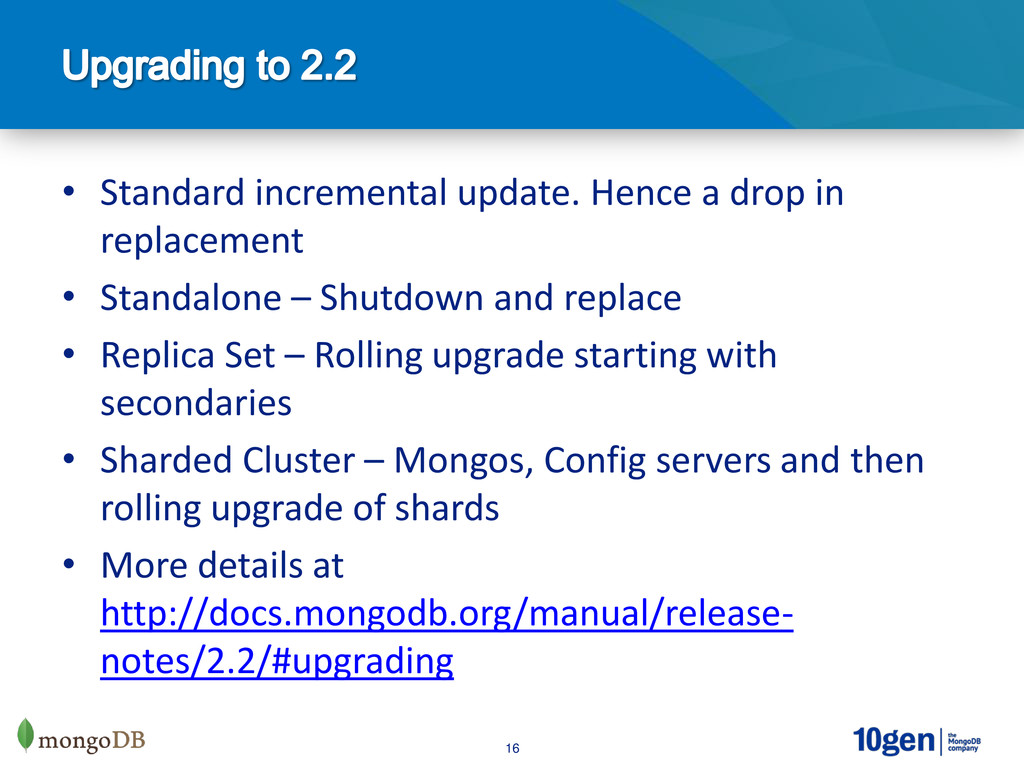 16 • Standard incremental update. Hence a drop ...