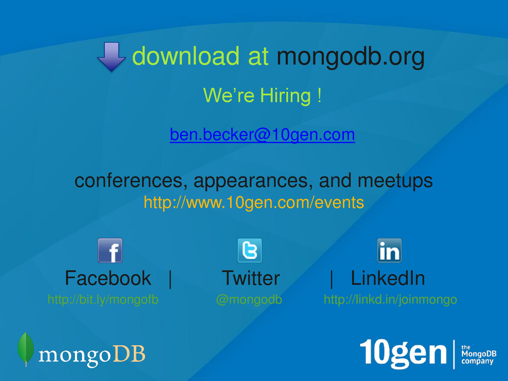 19 @mongodb conferences, appearances, and meetu...