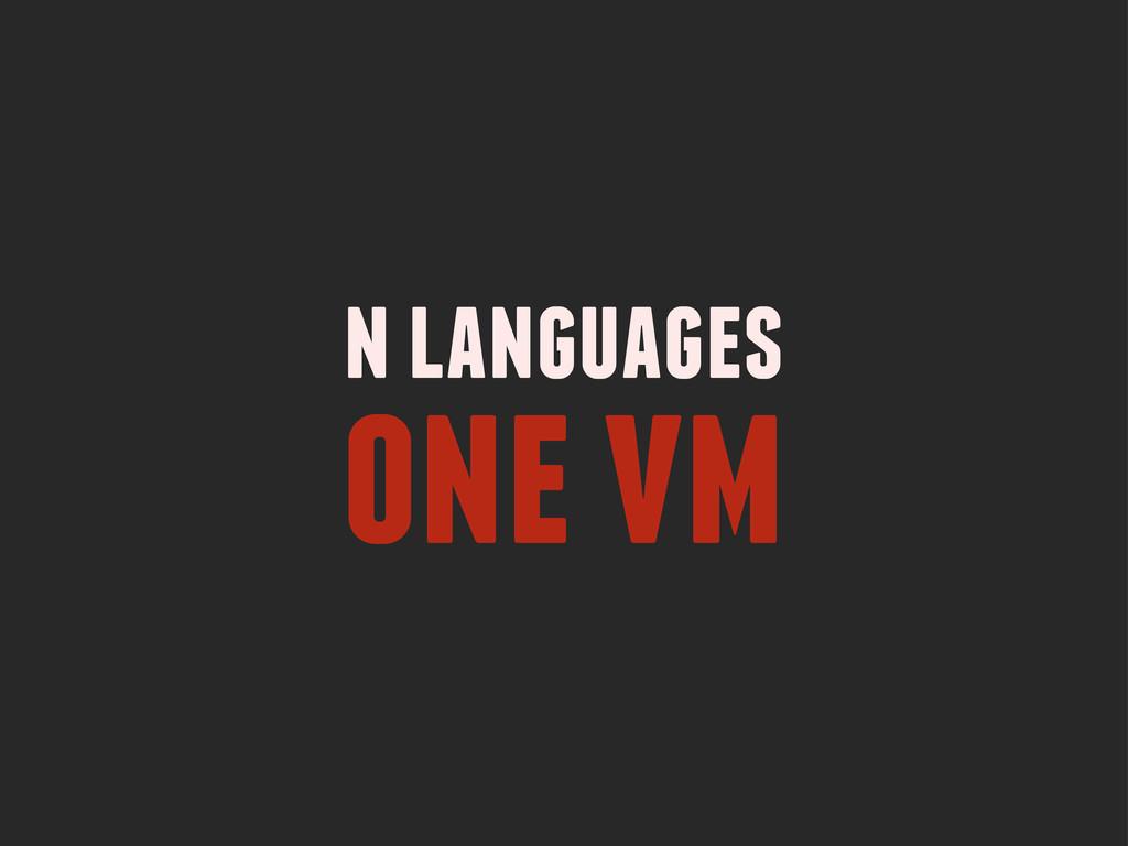 n languages one vm