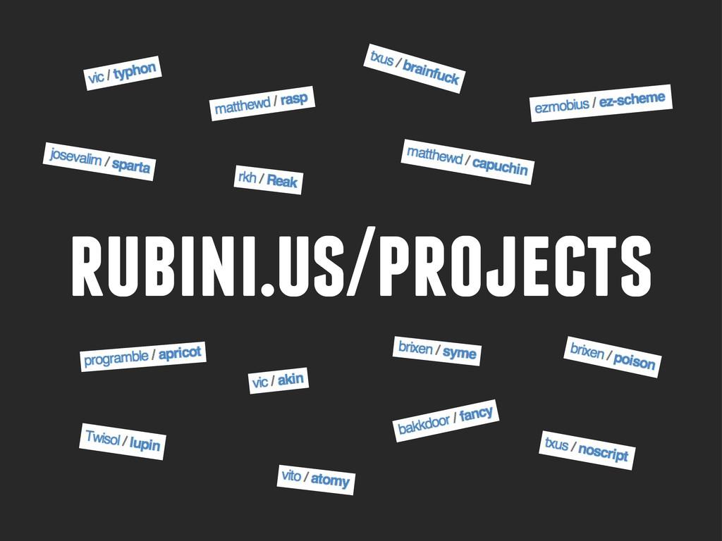rubini.us/projects