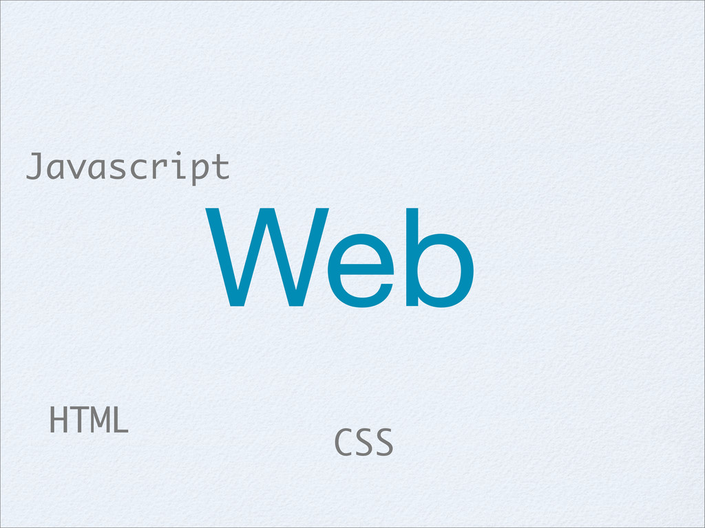 CSS HTML Javascript Web