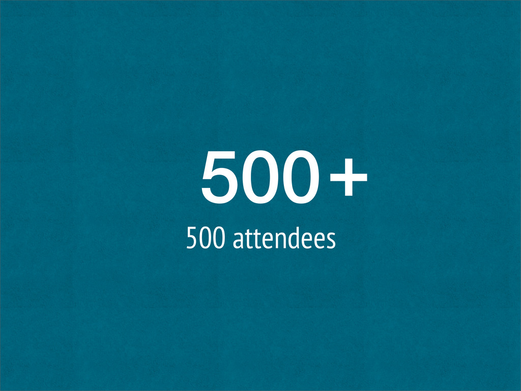 500 500 attendees +