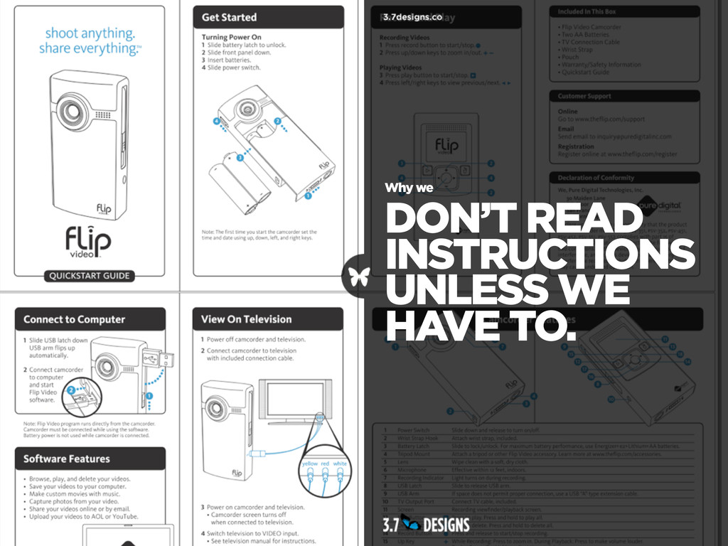 Why we DON'T READ INSTRUCTIONS UNLESS WE HAVE T...