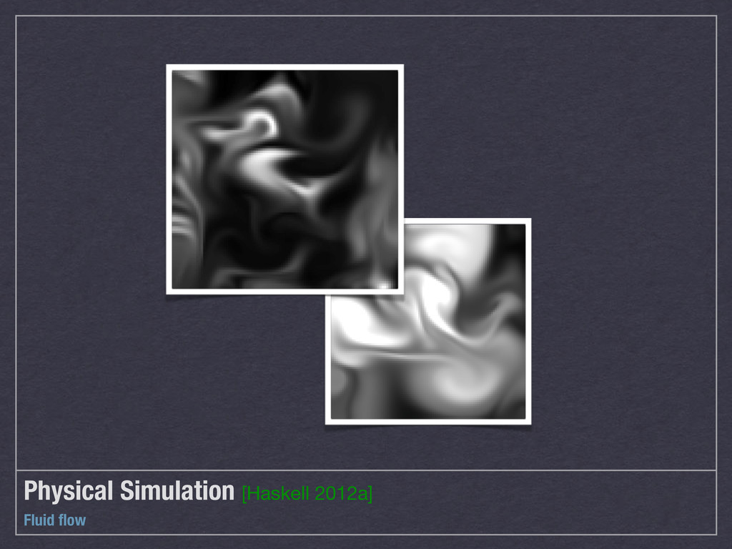 Physical Simulation [Haskell 2012a] Fluid flow