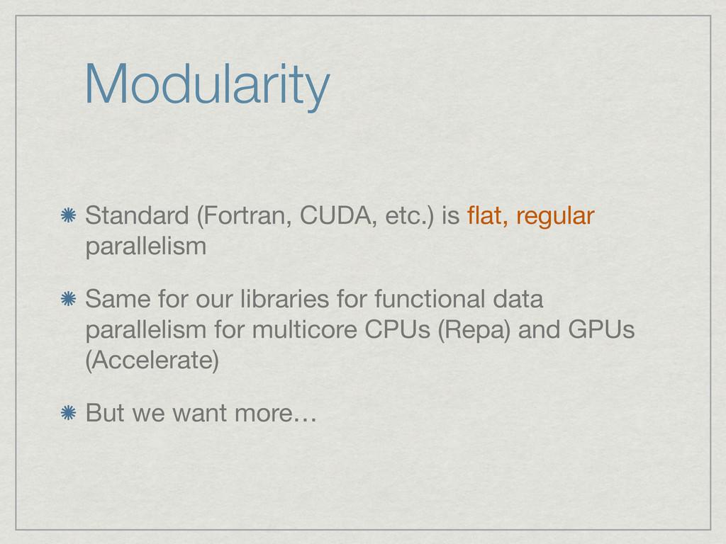 Modularity Standard (Fortran, CUDA, etc.) is fla...