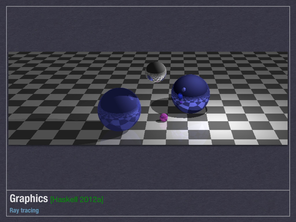 Graphics [Haskell 2012a] Ray tracing