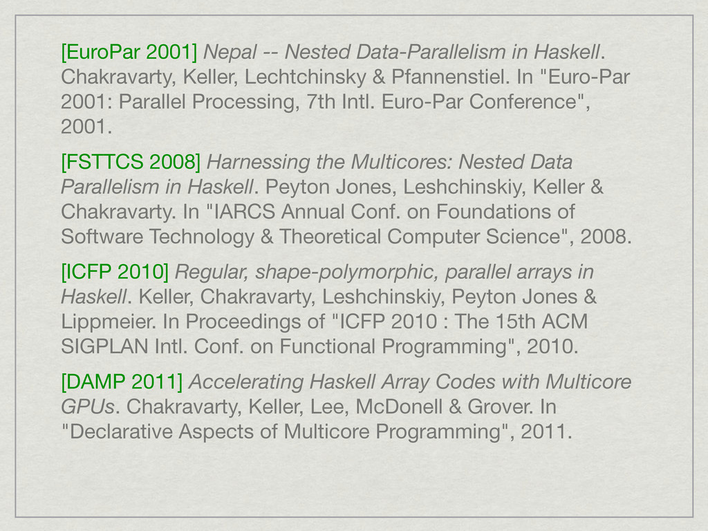 [EuroPar 2001] Nepal -- Nested Data-Parallelism...