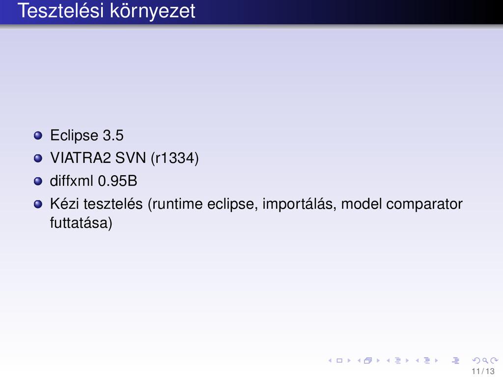 Tesztelési környezet Eclipse 3.5 VIATRA2 SVN (r...