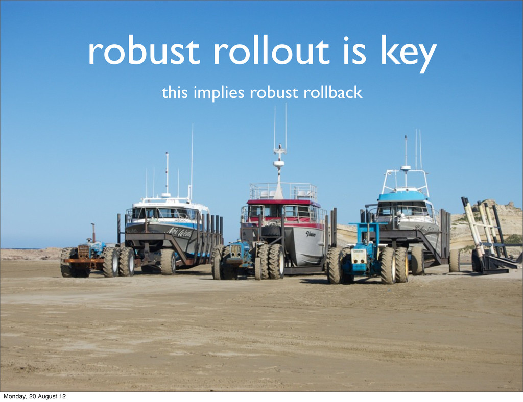 robust rollout is key this implies robust rollb...
