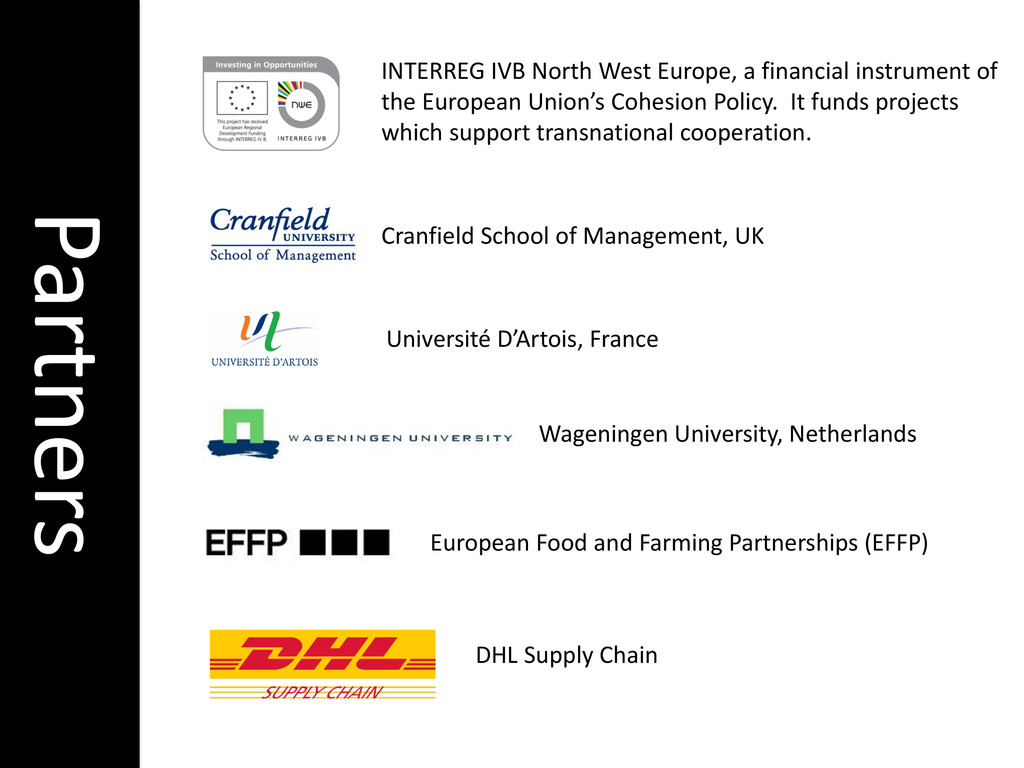 INTERREG IVB North West Europe, a financial ins...