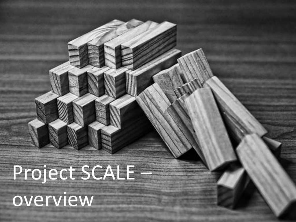 Project SCALE – overview