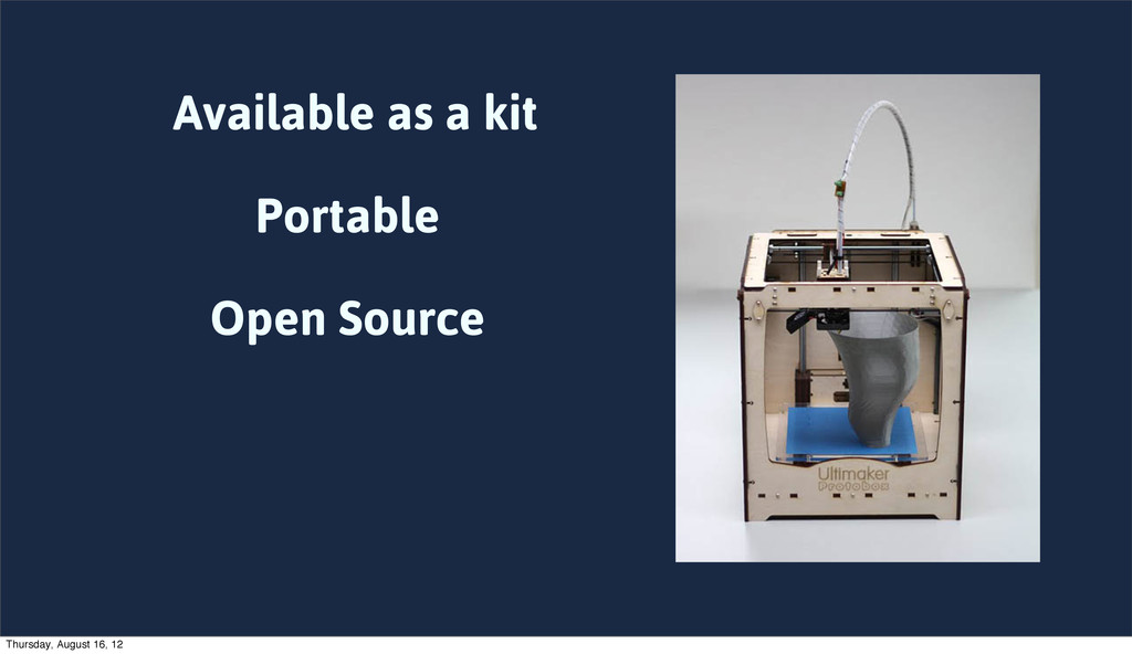 Available as a kit Portable Open Source Thursda...