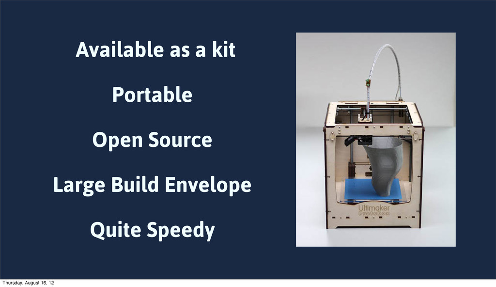 Available as a kit Portable Open Source Large B...