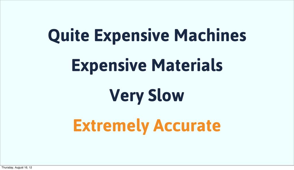 Quite Expensive Machines Expensive Materials Ve...