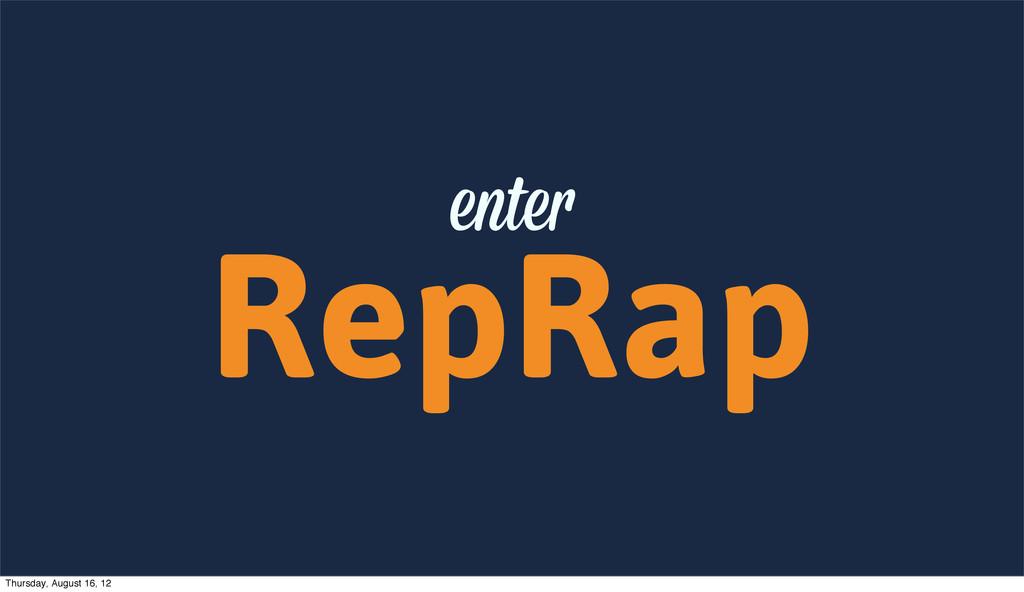 RepRap ente Thursday, August 16, 12