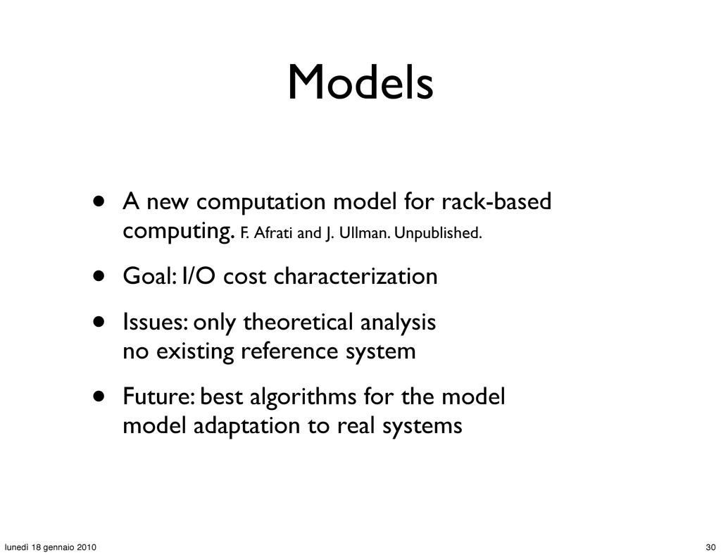 Models • A new computation model for rack-based...