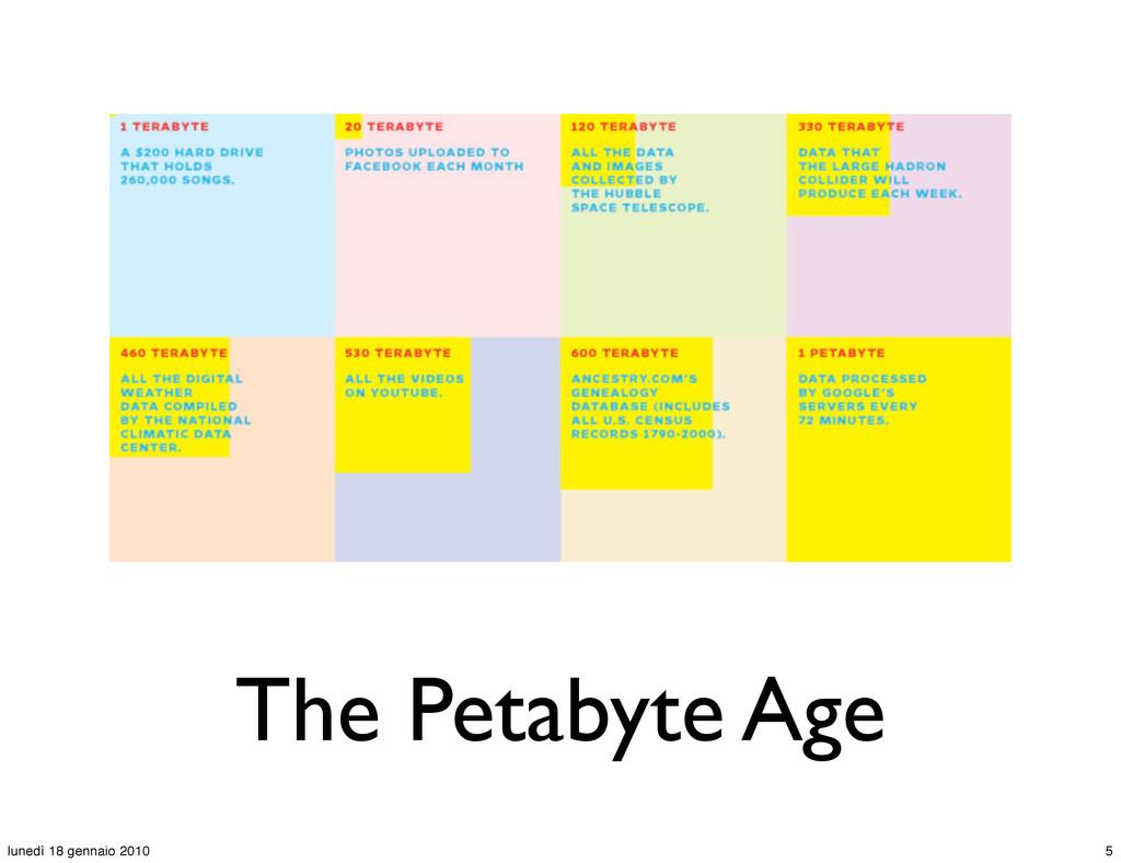 The Petabyte Age 5 lunedì 18 gennaio 2010