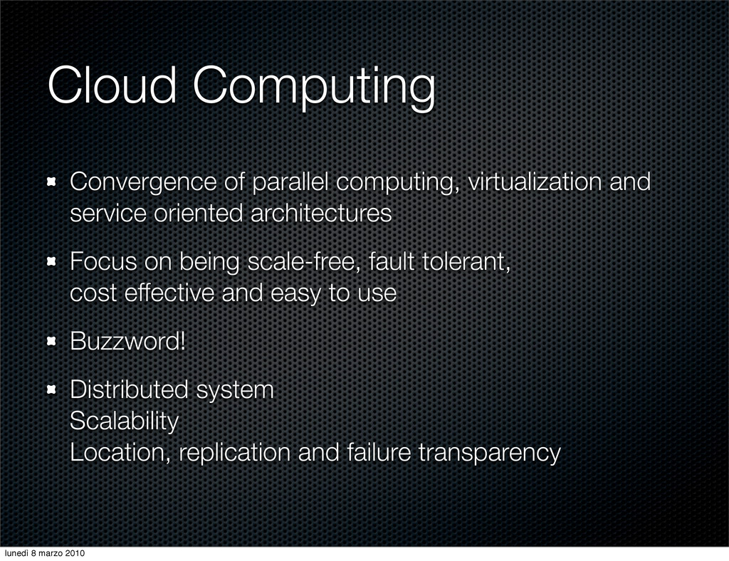 Cloud Computing Convergence of parallel computi...
