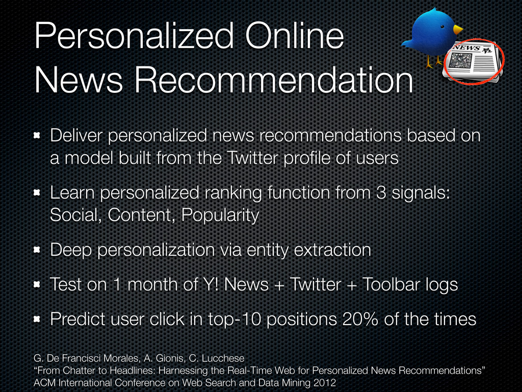 Personalized Online News Recommendation Deliver...