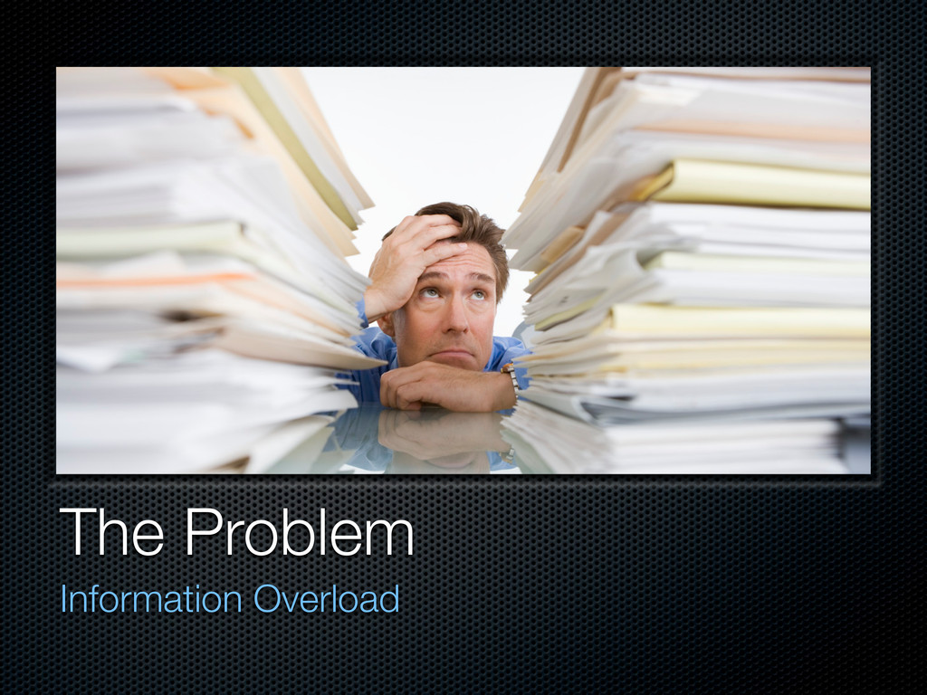 The Problem Information Overload