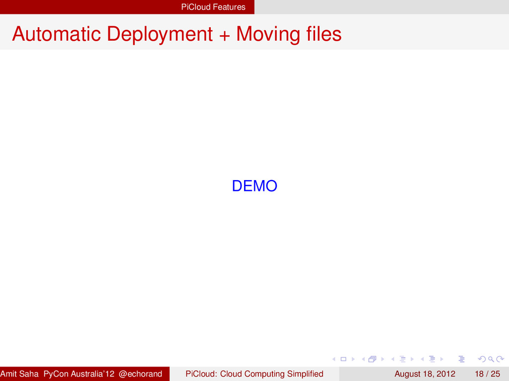 PiCloud Features Automatic Deployment + Moving ...