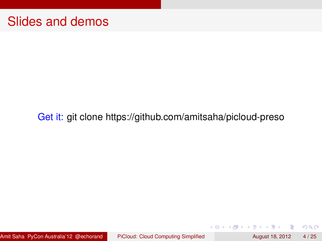 Slides and demos Get it: git clone https://gith...
