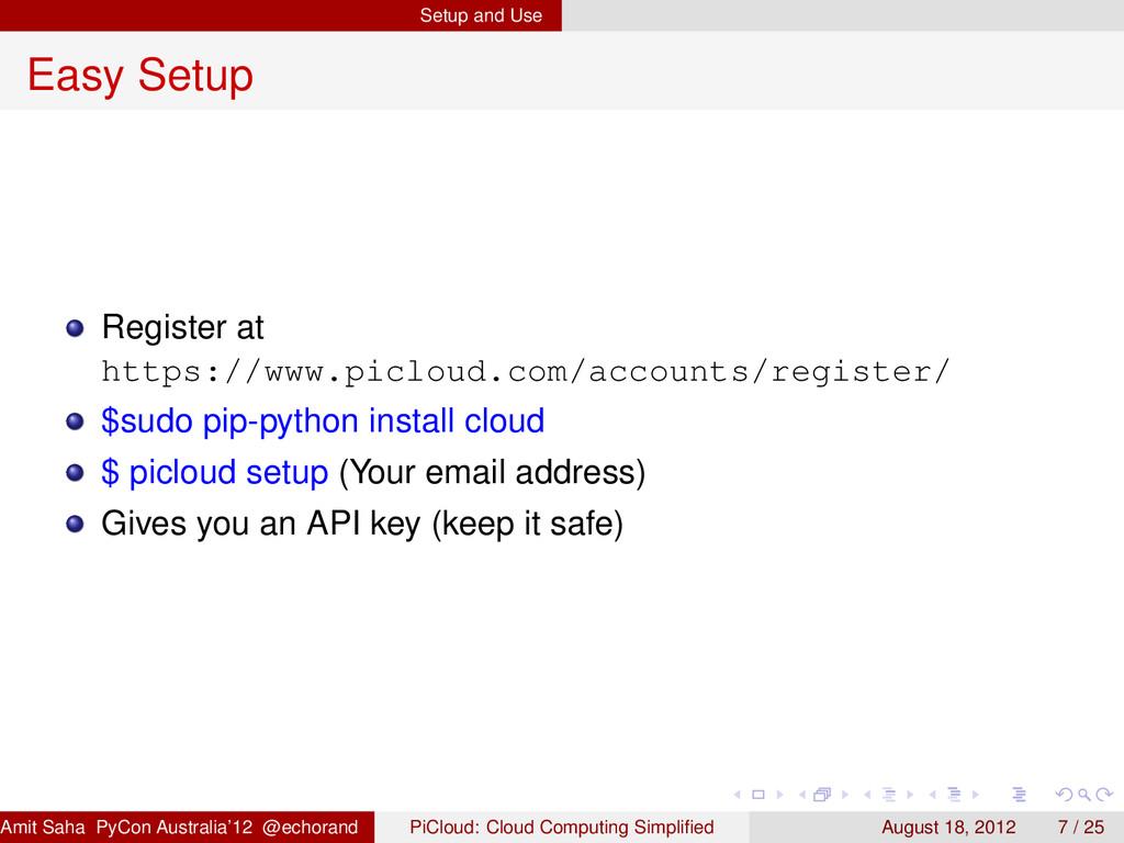 Setup and Use Easy Setup Register at https://ww...