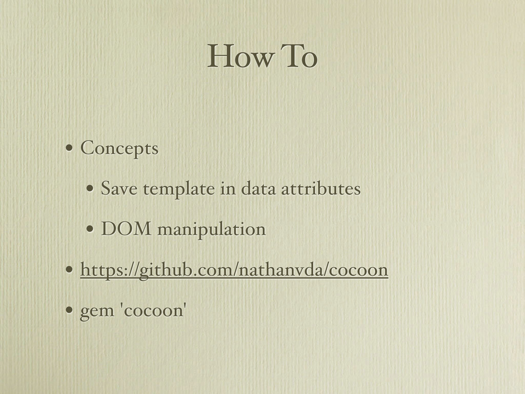 How To • Concepts • Save template in data attri...