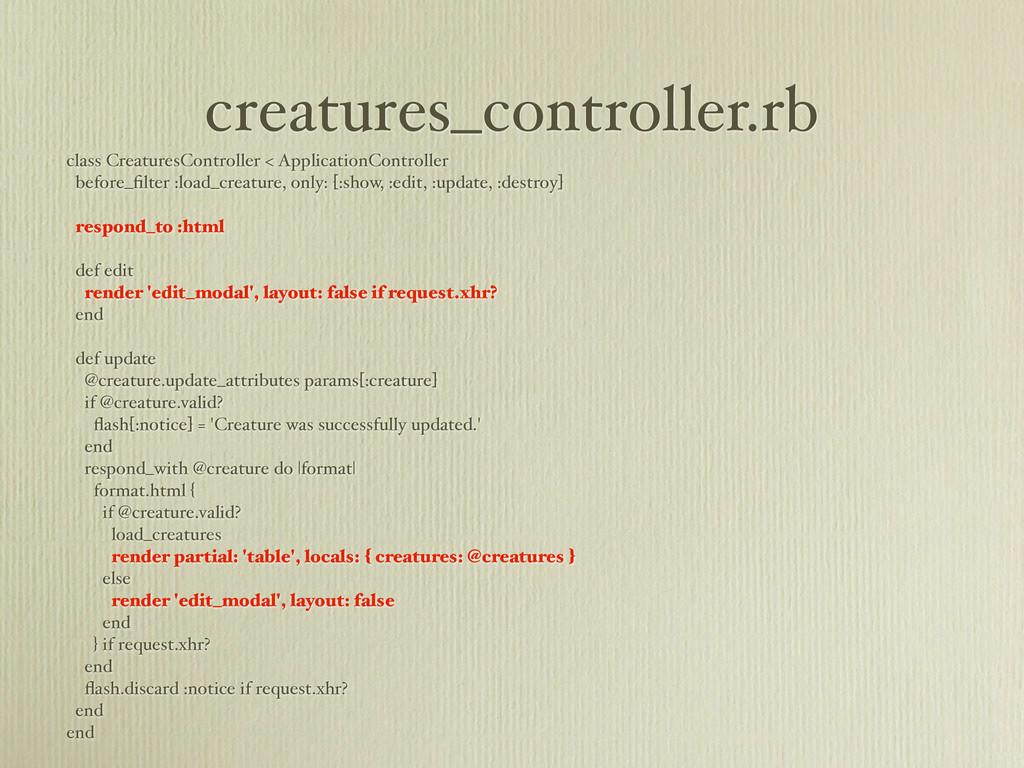 creatures_controller.rb class CreaturesControll...