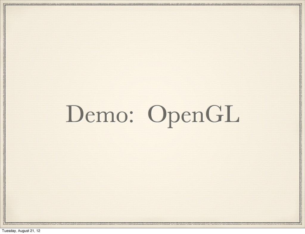 Demo: OpenGL