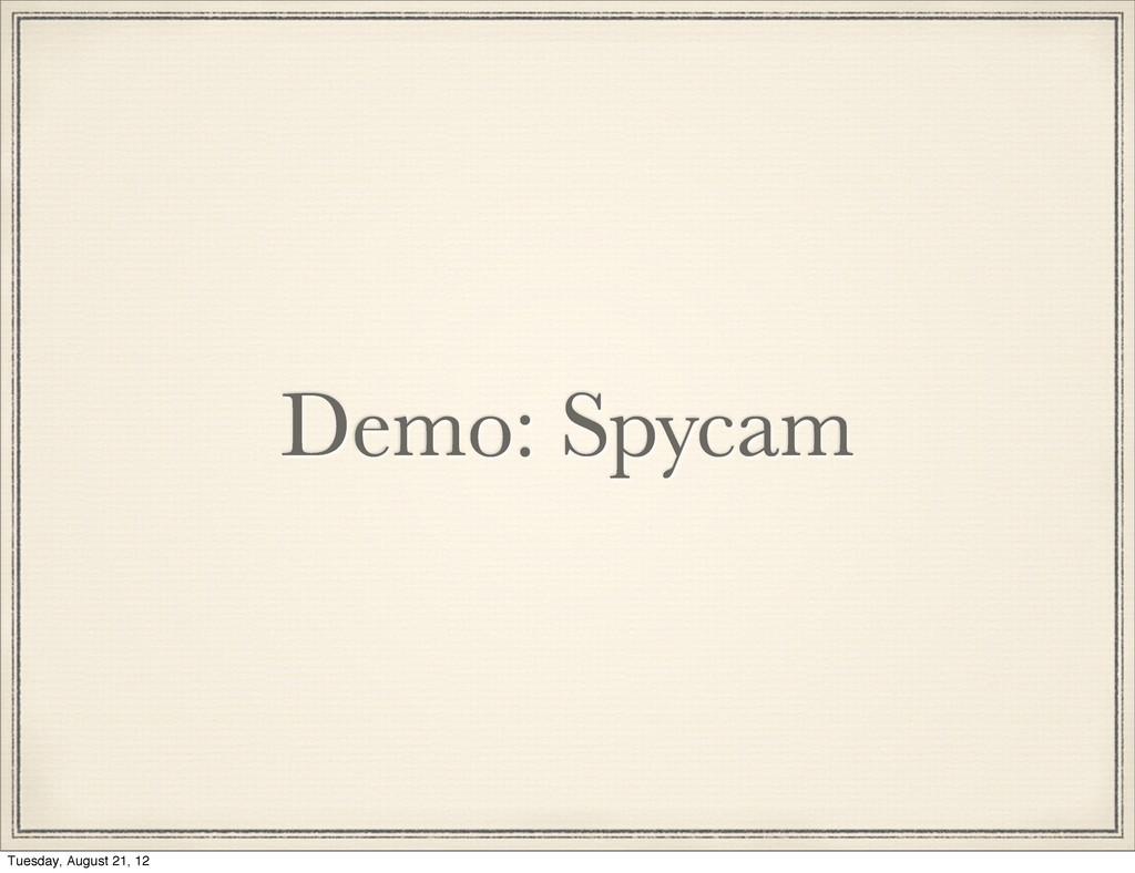 Demo: Spycam