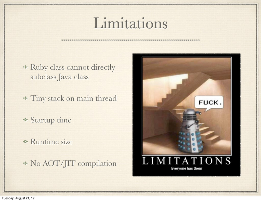 Limitations Ruby class cannot directly subclass...