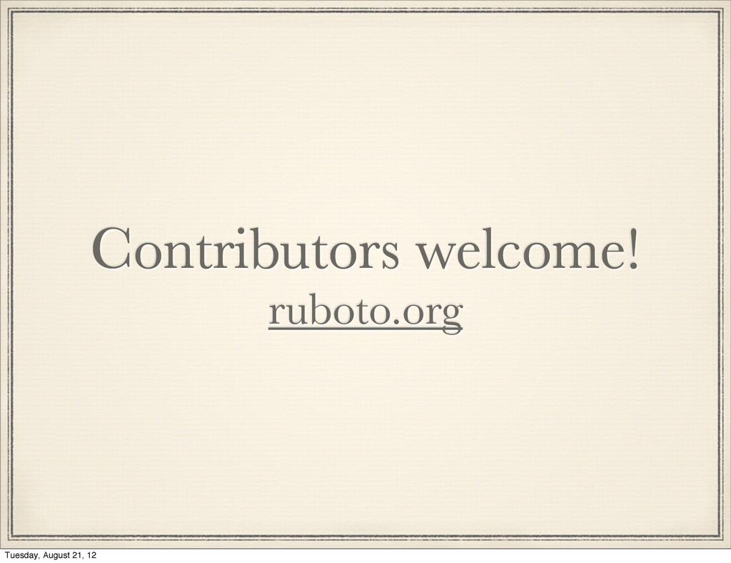 Contributors welcome! ruboto.org