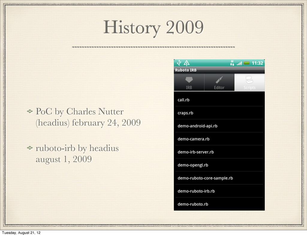 History 2009 PoC by Charles Nutter (headius) fe...