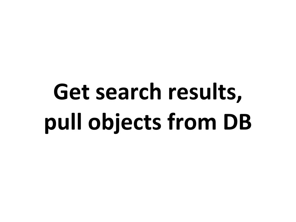 Get search results, pull objects from DB