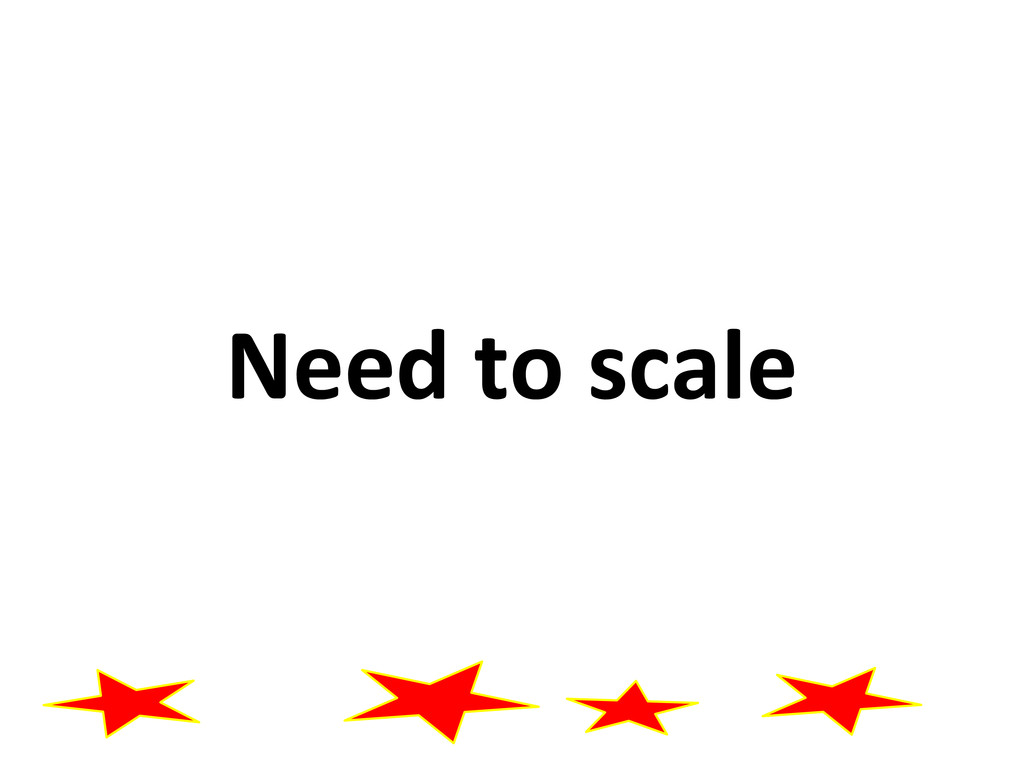 Need to scale