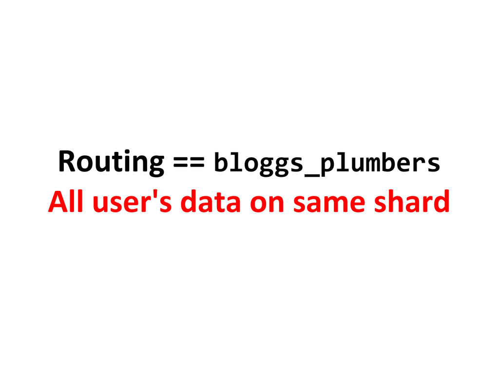 Routing == bloggs_plumbers All user's data on s...