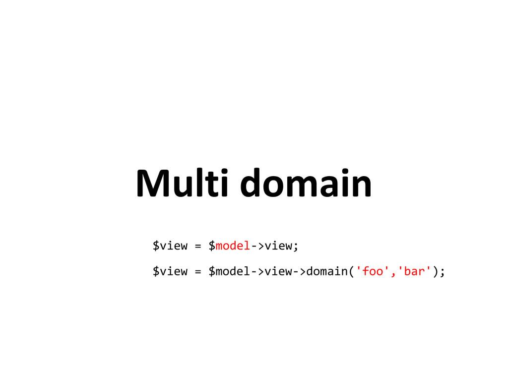 Multi domain $view = $model->view; $view = $mod...