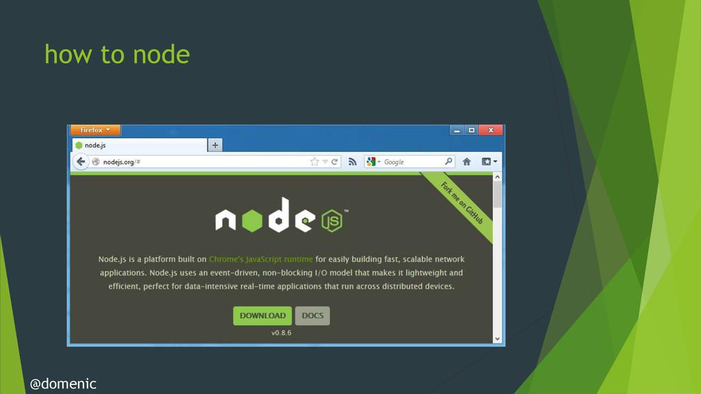 how to node @domenic