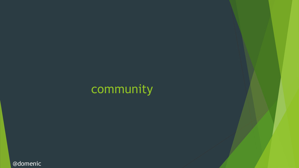 community @domenic