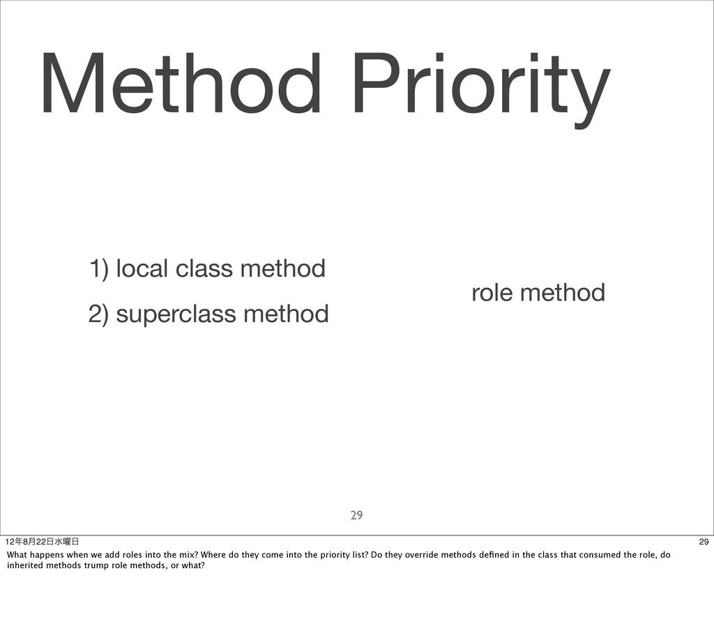 Method Priority 29 role method 1) local class m...