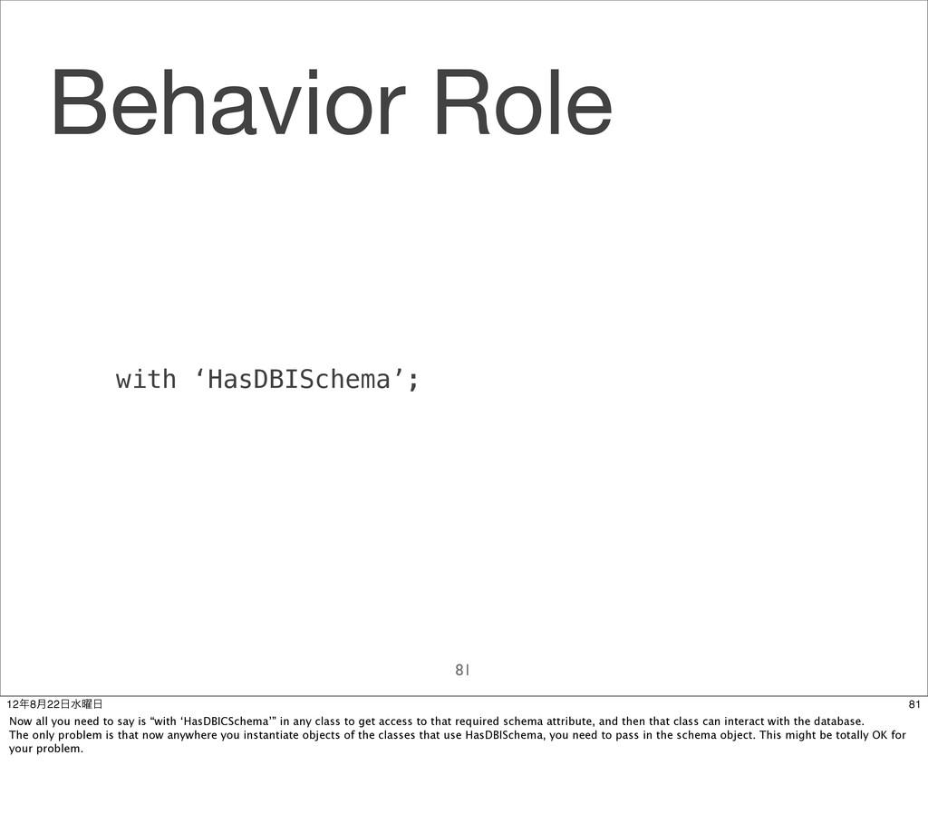 Behavior Role 81 with 'HasDBISchema'; 81 128݄2...
