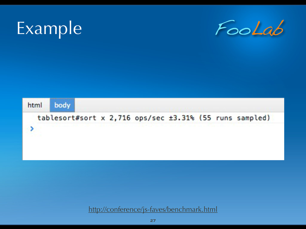 FooLab Example 27 http://conference/js-faves/be...