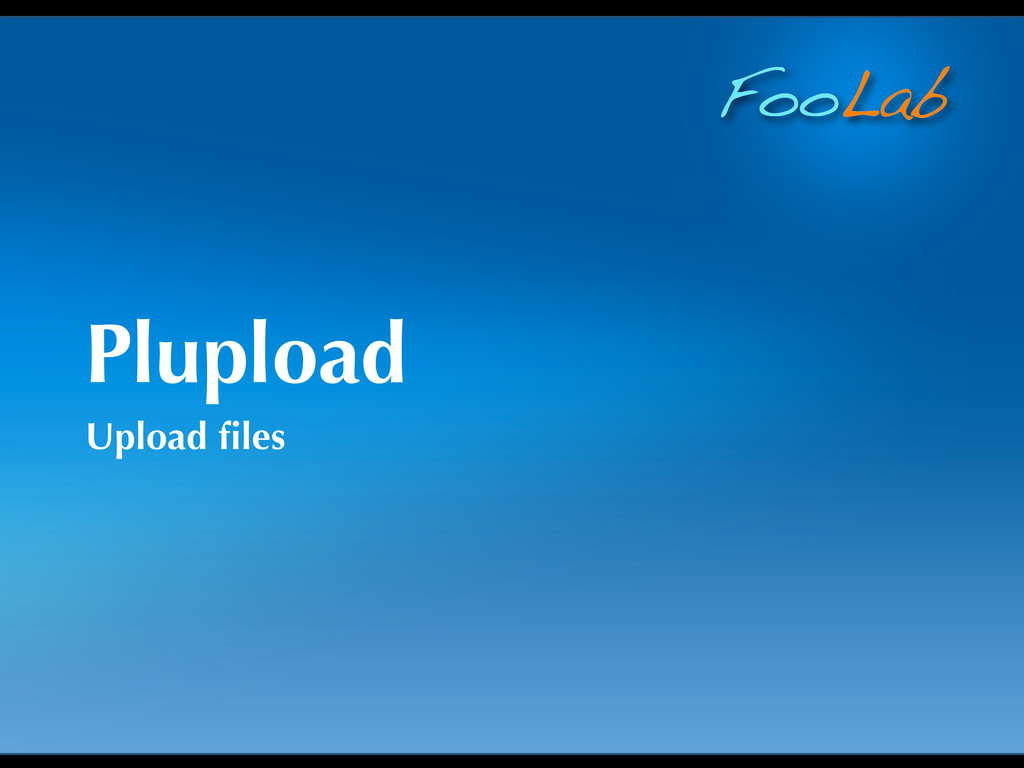 FooLab Plupload Upload files